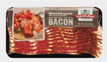 Farmer John® Steakhouse Seasoned Hardwood Smoked Bacon 12 oz. Pack