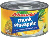 Schnucks In Unsweetened Pineapple Juice Chunk Pineapple 8 Oz Can
