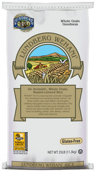 Lundberg Family Farms Ef Wehani Gourmet Brown Rice Eco-Farmed 25 Lb. Rice   Bag