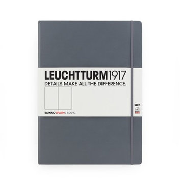 Kikkerland Leuchtturm Slim Master Book Paper: Plain, Color: Grey