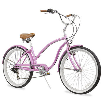 Beachbikes Women's Chief Beach Cruiser Bicycle Frame Color: Pink