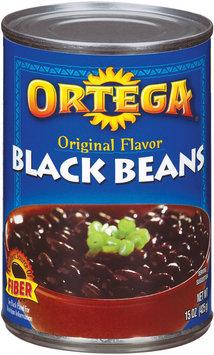Ortega Original Flavor Black Beans 15 Oz Glass Bottle Ret