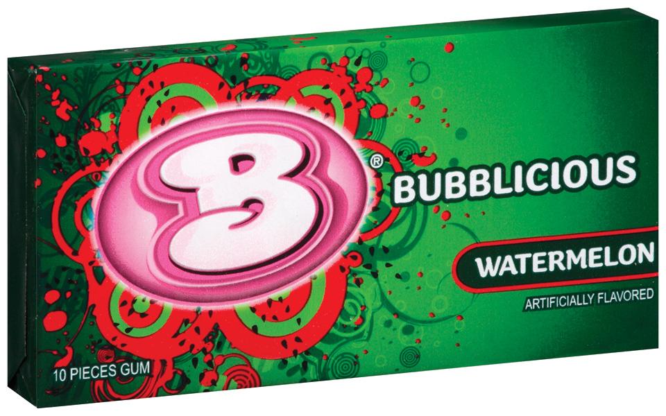 Bubblicious 10 Piece Packs Watermelon Bubble Gum