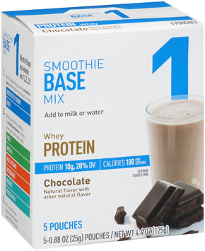 Great Value Whey Protein Chocolate Smoothie Base Mix 5-0.88 oz. Pouches