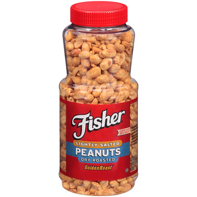 Fisher® Lightly Salted Dry Roasted Peanuts 22 oz. Plastic Jar