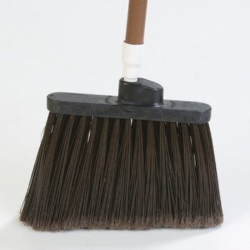 Carlisle Duo-Sweep Medium Duty Angle Broom with Flare (Set of 12) Color: Brown