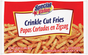 Special Value French Fried Crinkle Cut Potatoes 32 Oz Bag