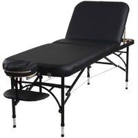 Sierracomfort Aluminum Portable Massage Table with Adjustable Back