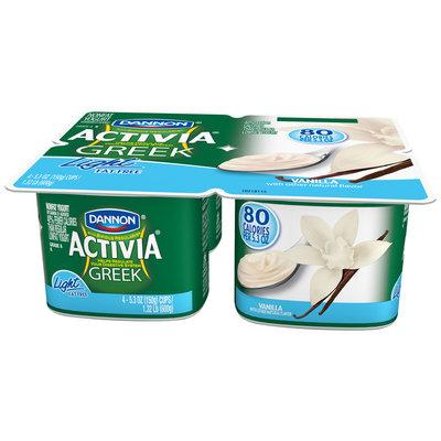 Activia Greek Light Yogurt Vanilla 5.3 Oz 4 Pk Cups