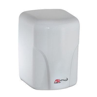 American Specialties Turbo-Dri High Speed Surface Mounted 240 Volt Automatic Hand Dryer in White