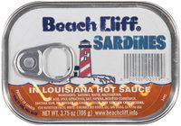Beach Cliff® Sardines in Louisiana Hot Sauce 3.75 Oz Tin