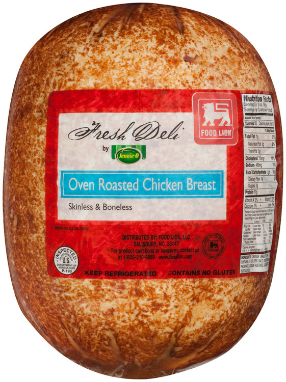 Food Lion Jennie O Fresh Deli Oven Roasted Chicken Breast Package