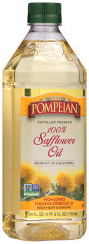 Pompeian® 100% Expeller Pressed Safflower Oil 24 fl. oz. Bottle