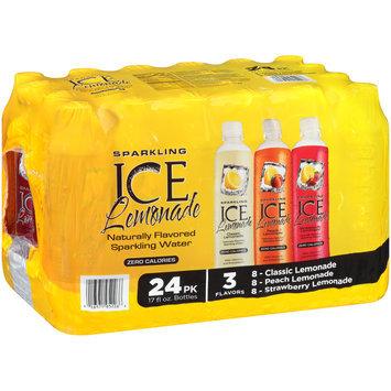 Sparkling ICE® Classic Lemonade/Peach Lemonade/Strawberry Lemonade Sparkling Water 12-17 fl. oz. Plastic Bottles