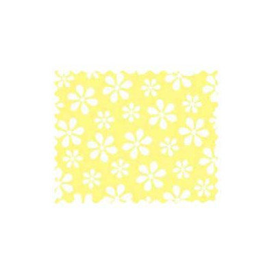 Stwd Pastel Floral Woven Fabric by the Yard Color: Yellow