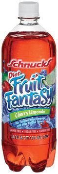 Schnucks Fruit Fantasy Diet Cherry Limeade Flavored Water Beverage 33.8 Oz Plastic Bottle