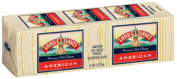 Land O'Lakes® Deli Premium White American Vertical Slices Cheese 120 Ct Wrapper