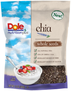 Dole Nutrition Plus Chia Whole Seeds