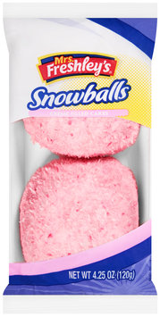 Mrs. Freshley's® Creme Filled Cakes Snowballs 4.25 oz. Pack