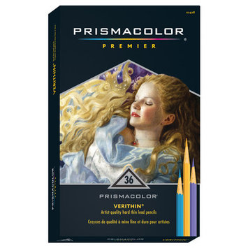 Prismacolor Verithin Colored Pencils - Set of 36 - Assorted Colors