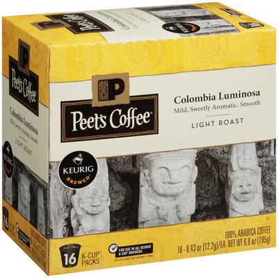Peet's Coffee® Colombia Luminosa Light Roast Ground Coffee 16–.43 oz. K–Cups