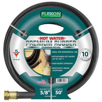 Commerce Corp - Flexon 5/8 Inch x 50 Feet Hot Water Rubber Garden Hose