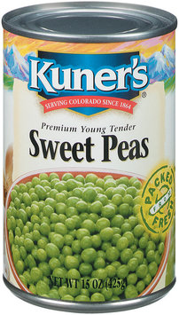 Kuner's Premium Young Tender Sweet Peas 15 Oz Can