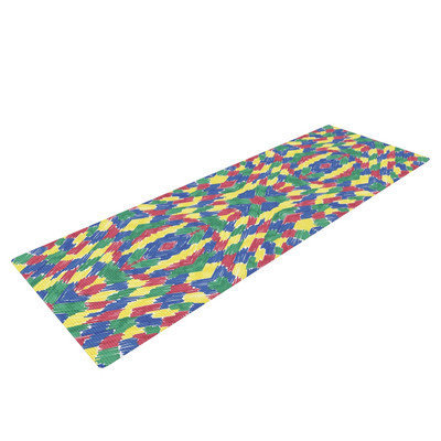Kess Inhouse Energy Abstract by Empire Ruhl Yoga Mat