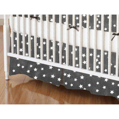 Stwd Cloudy Stars Crib Skirt Color: Black