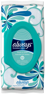 Wipes Always Feminine Wipes Fresh & Clean Scent 32 Count