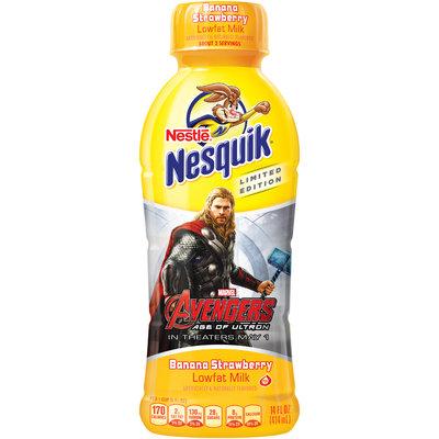 Nestlé NESQUIK Banana Strawberry Flavored Low Fat Milk 14 fl. oz. Plastic Bottle