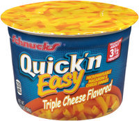 Schnucks® Quick 'n Easy® Triple Cheese Flavored Microwaveable Macaroni & Cheese Dinner 2.05 oz. Microcup
