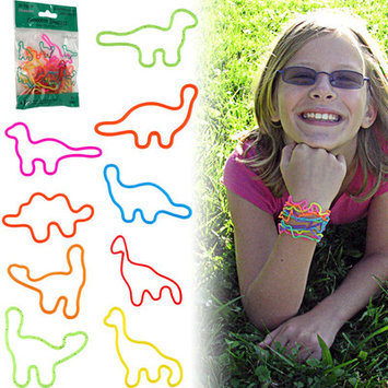 Trademark Global Games Groovy Bandzzzz Shaped Rubber Bands Design: Dinosaurs