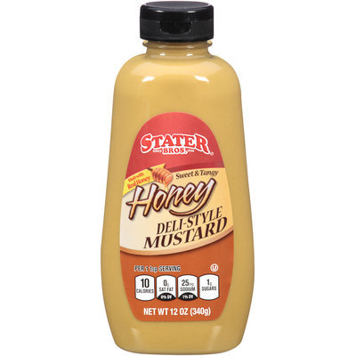 Stater Bros.® Sweet & Tangy Honey Deli-Style Mustard 12 oz. Squeeze Bottle