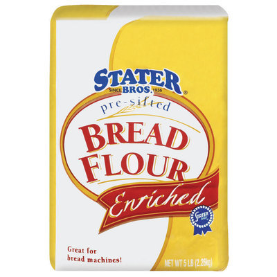 Stater Bros. Pre-Sifted,  Enriched Bread Flour 5 Lb Bag