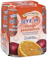 R.W. Knudsen Spritzer Orange Passionfruit Flavored 10.5 Oz Sparkling Beverage 4 Pk Cans