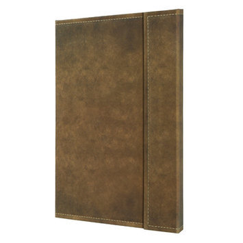 Bindertek Sigel Vintage Hardcover Graph Notebook - Large Size with Magnetic Closure Color: Brown, Size: 11