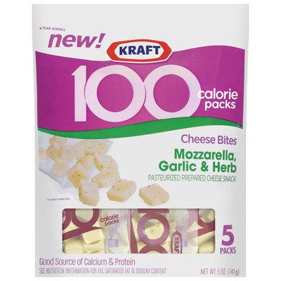 Kraft 100 Calorie Packs Mozzarella Garlic & Herb Cheese Bites  5 Ct Peg