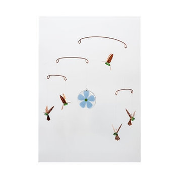 Timberbayhome & Garden Hummingbird Mobile Color: Ruby