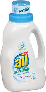 all® free clear Fabric Softener for Sensitive Skin 40 Loads 32 fl. oz. Bottle