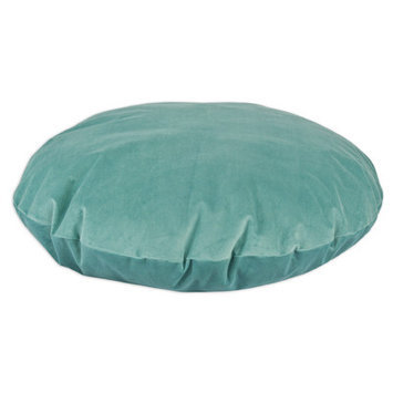 Brite Ideas Living Classic Velvet Round Dog Bed Pillow Color: Caribbean, Size: Small (36