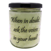 Starhollowcandleco When In Doubt, Ask The Voices In Your Head Snickerdoodle Jar