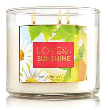 Bath & Body Works® LOVE & SUNSHINE 3-Wick Candle