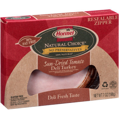 Hormel® Natural Choice® Sliced Sun-Dried Tomato Deli Turkey 7 oz. Box