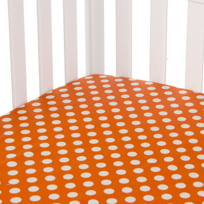 Sweet Potato By Glenna Jean Calliope Fitted Sheet Color: Orange/White