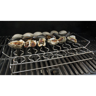 Charcoal Companion Steven Raichlen Stainless Seafood Rack