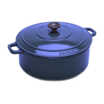 World Cuisine A1737133 Blue 6.75 Qt Oval Dutch Oven