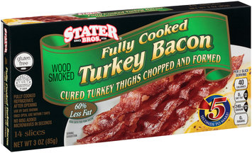Stater Bros.® Fully Cooked Turkey Bacon 3 oz. Box