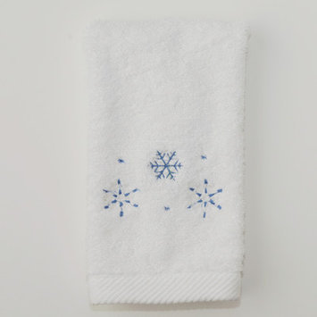 The Designs Of Distinction Snowflake Terry Hand Towel (Set of 2)