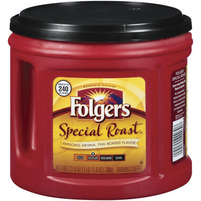 Folgers Special Roast Medium Ground Coffee 27.8 Oz Canister